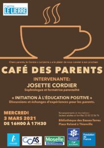 Le café des parents revient en mars